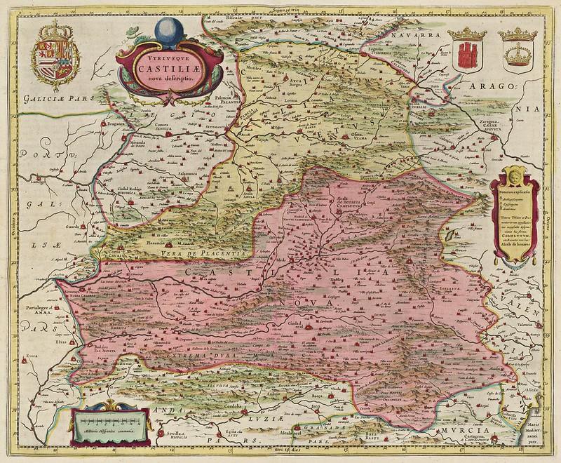 Joan Blaeu - Vtrivsque Castiliae nova descriptio (1665)