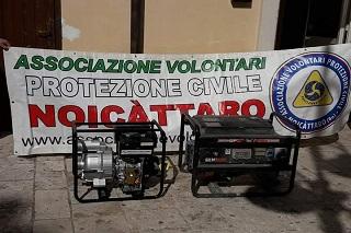 Noicattaro. protezione civile front