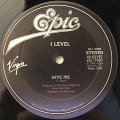 I LEVEL:GIVE ME(LABEL SIDE-A)