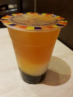 Passionfruit Bubble Tea with Lychee Jelly at Tea Master