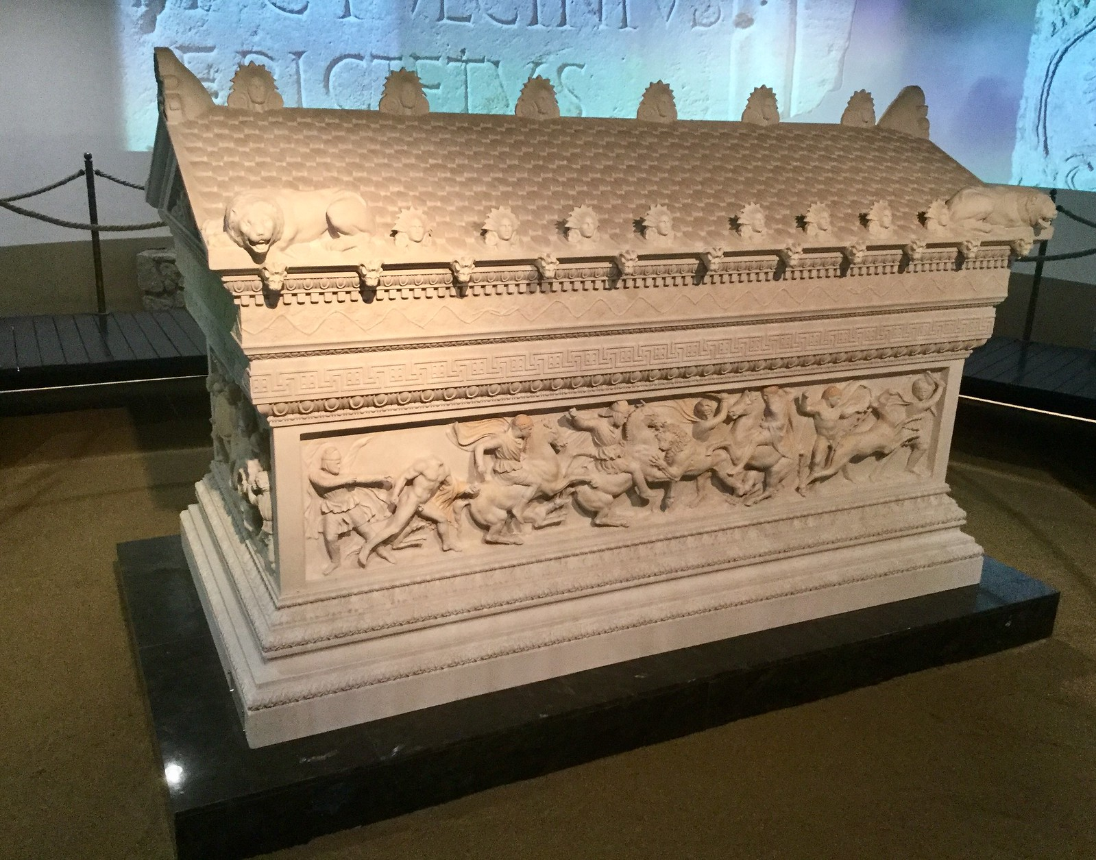 201705 - Balkans - Skopje Archaeological Museum - Ornate Roman Coffin - 87 of 89 - Skopje - Skopje, May 31, 2017