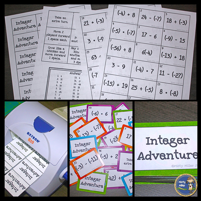 Repurpose an old game board into a brand new math game. You can use a variety of math skills including converting integer operations. Perfect for your math centers and engaging your students.