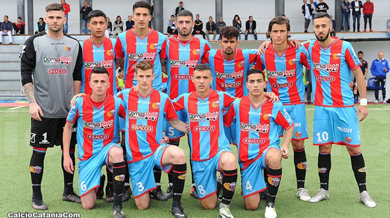 (Da sinistra verso destra, in alto) Fabiani, Napolitano, Pecorino, Giuffrida , Florio, Distefano, Condorelli (In basso) Berti, Pantó, Papaserio e Lombardo.