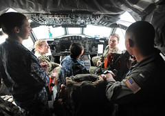 Presidio Sailors tour Navy surveillance plane