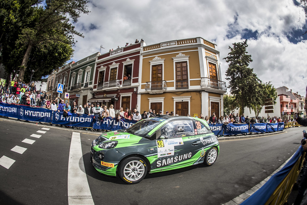 39 STENGG Roland, DORFBAUER Claudia, Stengg Motorsport, Opel Adam R2, action during the 2018 European Rally Championship ERC Rally Islas Canarias, El Corte Inglés,  from May 3 to 5, at Las Palmas, Spain - Photo Gregory Lenormand / DPPI