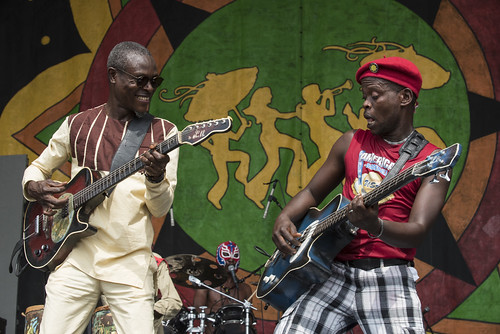 Jupiter and Okwess during Jazz Fest day 5 on May 4, 2018. Photo by Ryan Hodgson-Rigsbee RHRphoto.com