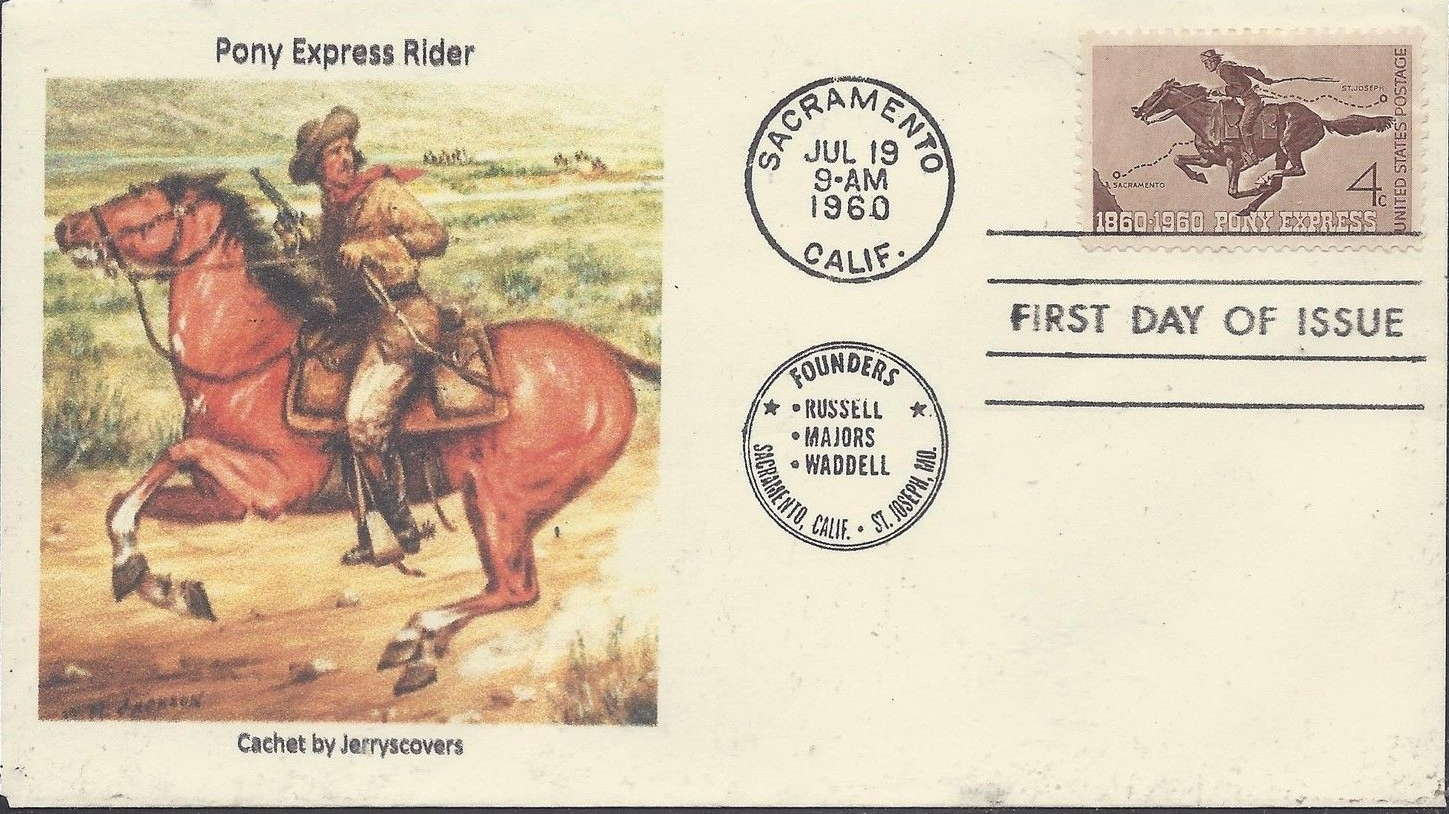 United States - Scott #1154 (1960) first day cover - Sacramento, California