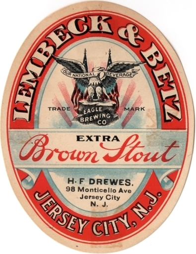 Extra-Brown-Stout-Labels-Lembeck--Betz-Eagle-Brewing-Co