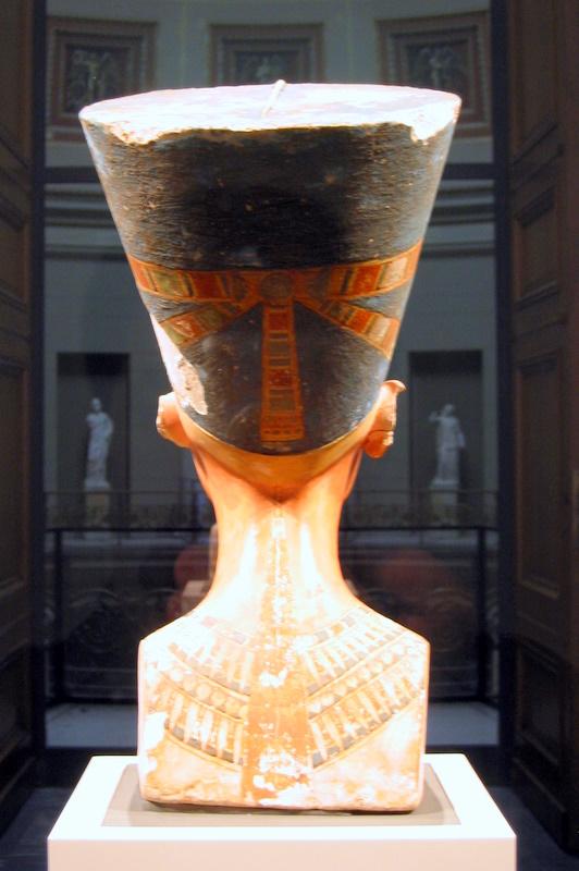 Rear view of the bust of Queen Nefertiti in Berlin, Germany. Photo taken on December 28, 2005.