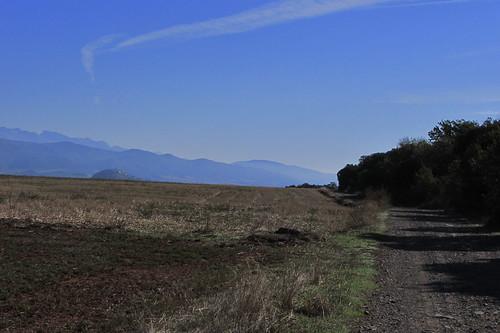 20121001 33 257 Jakobus Pyrenäen Berge Feld Wald Weg