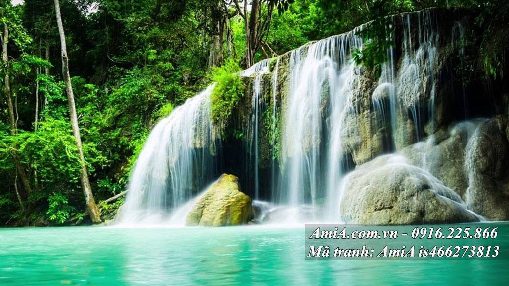 Tranh thác nước đẹp hình ảnh căng nét trang trí nhà xinh