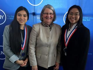 Tue, 03/06/2018 - 13:02 - Joana Reiko Sato (left), Dr. Virginia Taylor, vice president of GCC Student Enrollment and Yuki Lai (right)