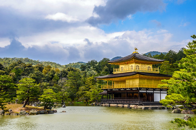 Gold Pavilion side water