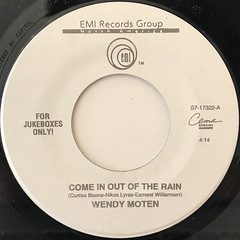 WENDY MOTEN:COME IN OUT OF THE RAIN(LABEL SIDE-A)