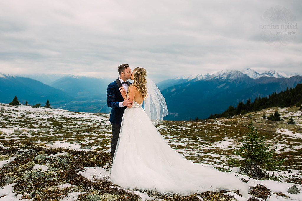 Mount Terry Fox Heli-Wedding Photos Berg Lake BC