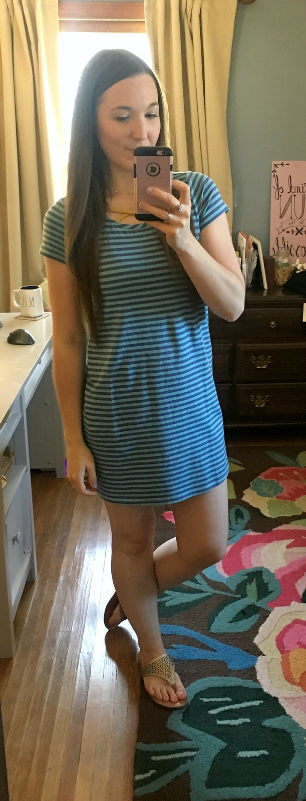 Matilda Jane blue stripe tween tshirt dress