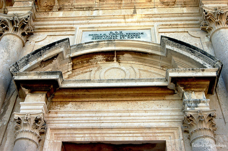 Фрагмент храмового фасада