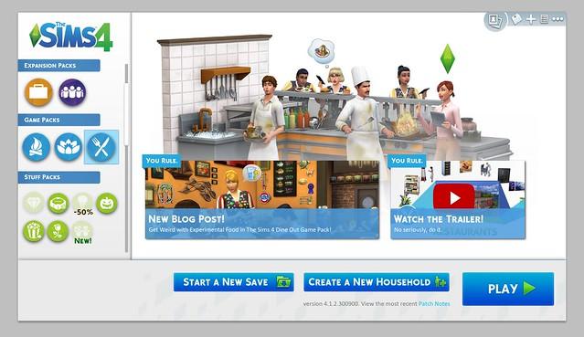 Antigo Conceito de Interface para o The Sims 4