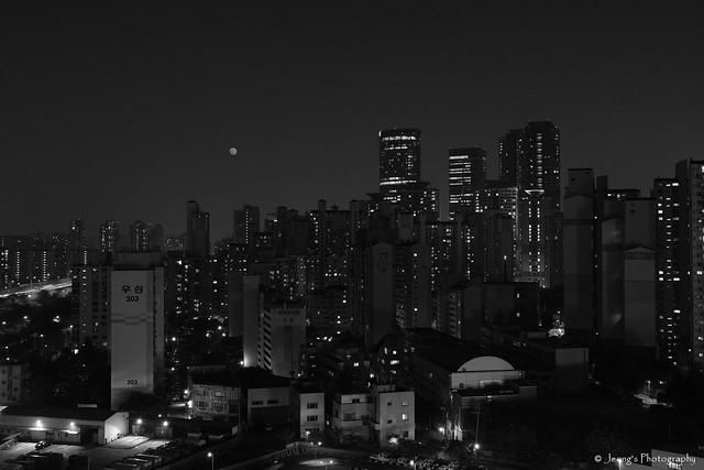 Moonlight of the city