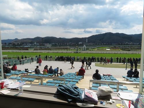 福島競馬場の2階一般席