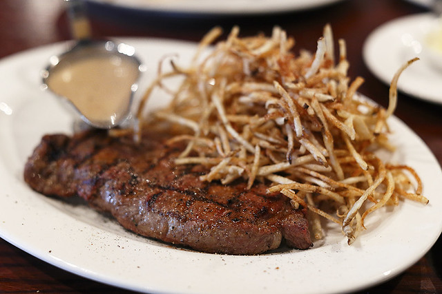 New York Striploin with matchstick fries