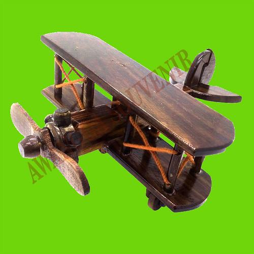 miniatur kayu pesawat capung