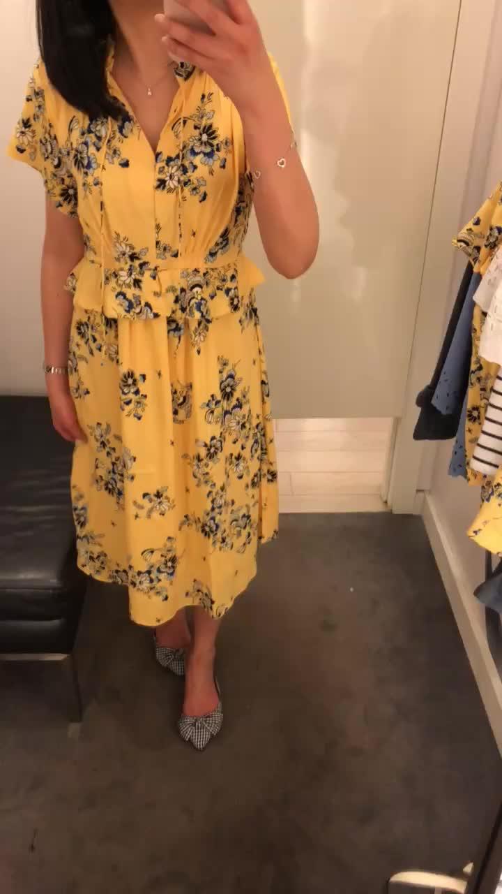 Ann Taylor Boho Floral Midi Dress, size 00P