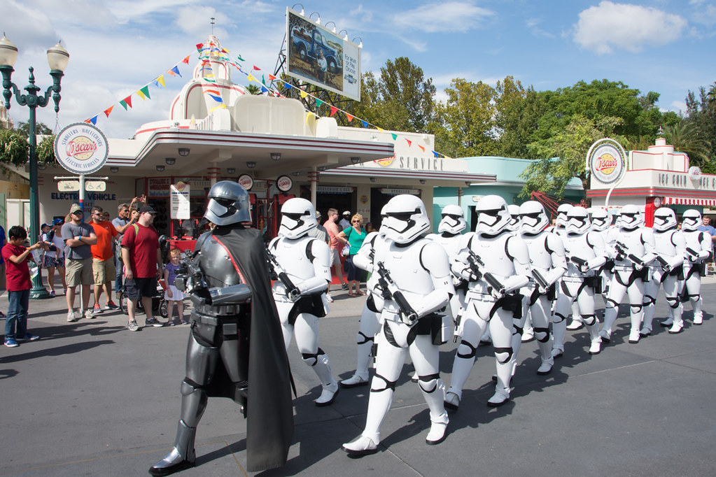 Stormtroopers march at Hollywood Studios