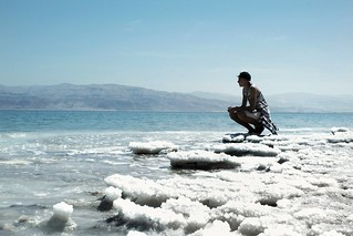 """When you are just sitting here and saying """"OMG"""" to yourself while looking at this view. This is why we do this. This is why we are travelling. We make the best memories to remember forever. With love from the Dead Sea!"""