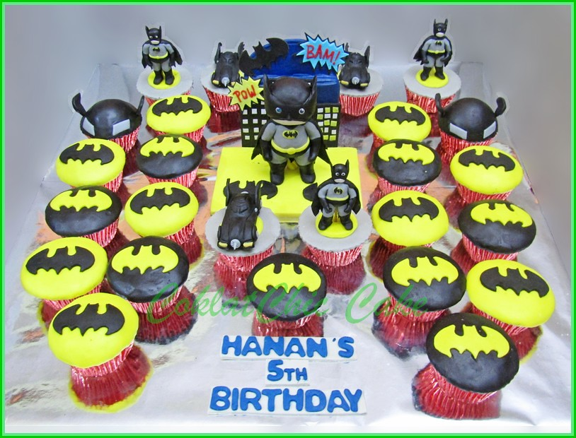 Cake dan cupcake set BATMAN