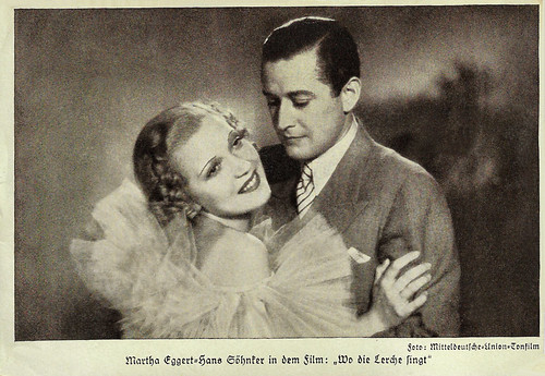 Martha Eggerth and Hans Söhnker in Wo die Lerche singt (1936)