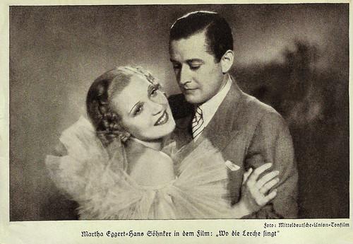 Martha Eggerth and Hans Söhnker in Wo die Lerche singt (1936)