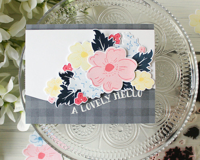 LizzieJones_PapertreyInk_FloralSketches_LovelyHello_Card1