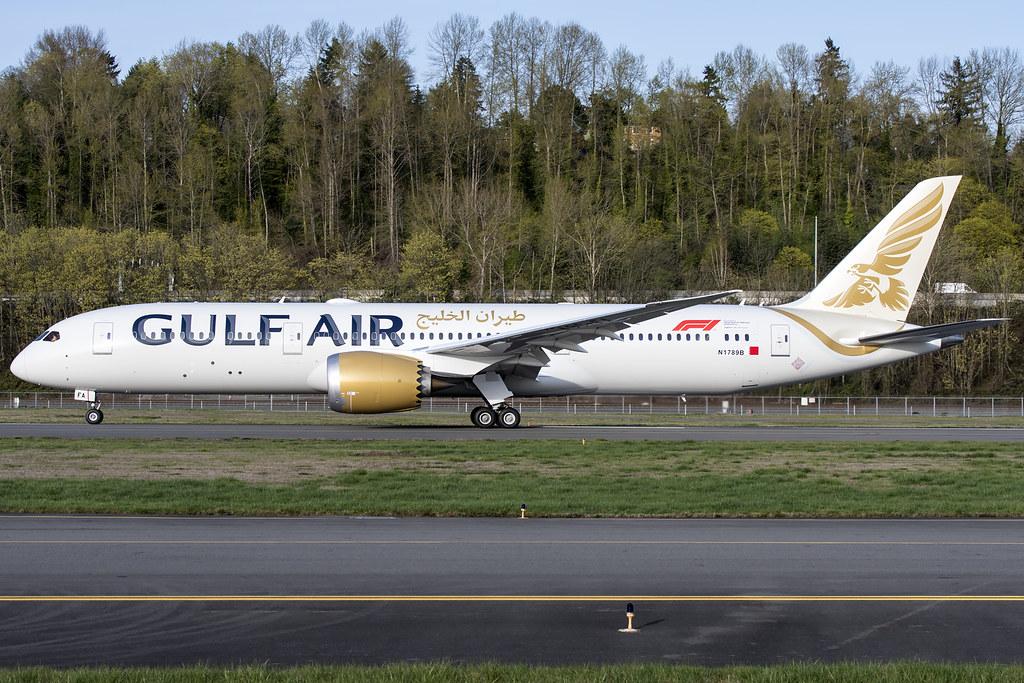 Gulf Air Boeing 787-9 N1789B