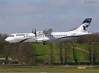 F-WWEU ATR72 Iran Air
