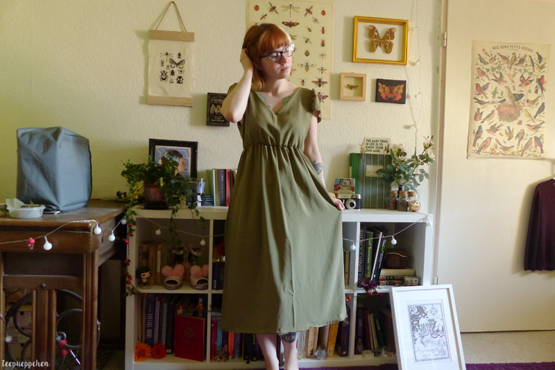 olive fairy dress handmade edwardian 20th century teadress