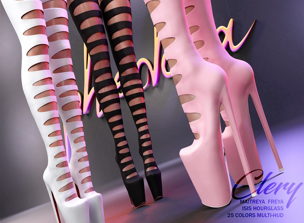 "Phedora. for FaMESHed Event – April Round​- ""Clery"" high thigh Boots ♥"
