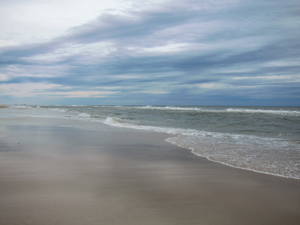 The beach at Assateague State Park