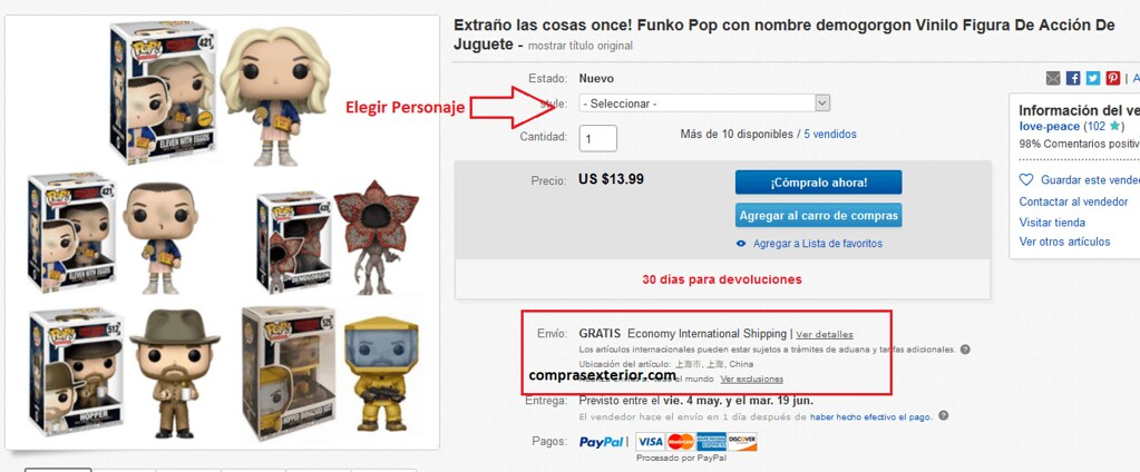 comprar  Funko Pop baratos en ebay