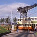 Glasgow Tram 1297 in setting at GGF . Sep'88 by David Christie 14