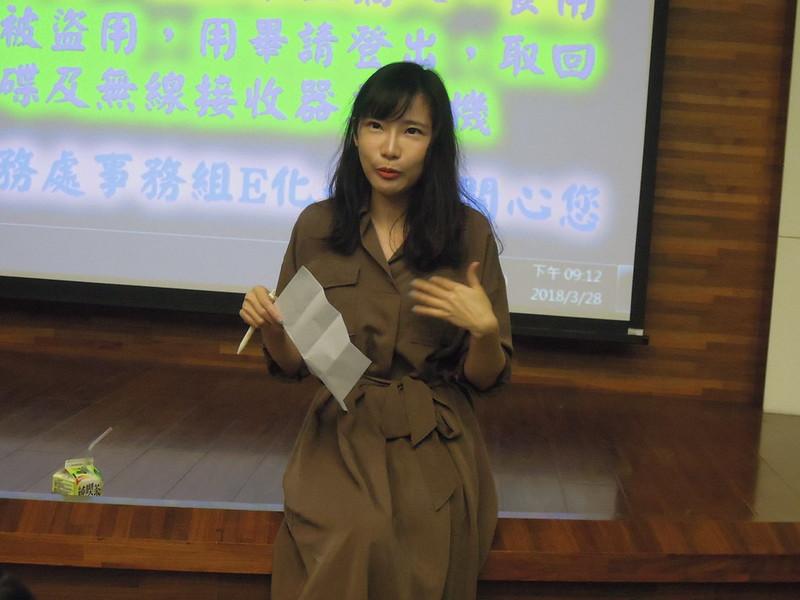 本次映後座談邀請到政大傳院助教、同時也是知名性別學者康庭瑜,為我們解析這部電影。圖/廖郁菁攝。
