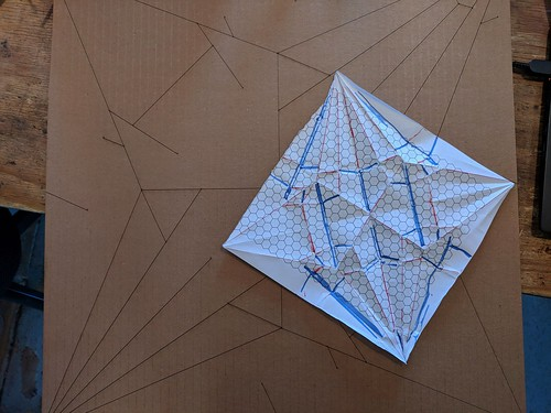Cardboard origami test