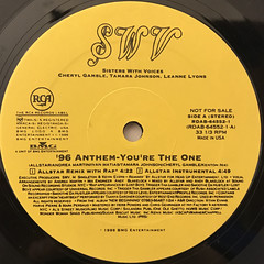 SWV:YOU'RE THE ONE(REMIXES)(LABEL SIDE-A)
