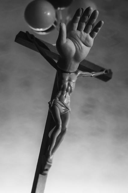 Take Jesus by the Head b+w