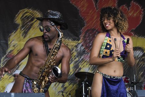Kumasi at Jazz Fest day 5 on May 4, 2018. Photo by Ryan Hodgson-Rigsbee RHRphoto.com