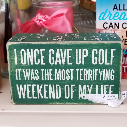 gave up golf