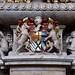 Tamworth, Staffordshire, St. Editha's, monument to John Ferrers † xiiiiº Augusti Aº mdclxxxº and his son Humphrey † die sexto Septembris Aº mdclxxviii, armorial detail