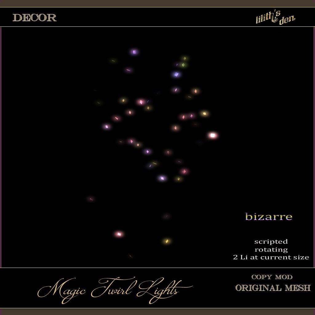 LD Magic Twirl Lights bizarre