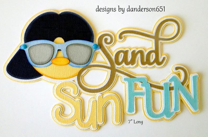 ScHoOl TiTlE KiDs Paper Piecing PreMade 4 Border Scrapbook Album danderson651