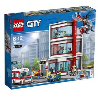 生病的樂高人總算有醫生看啦~LEGO 60204 城市系列【醫院】Hospital 可以檢查視力,還能照X 光!!